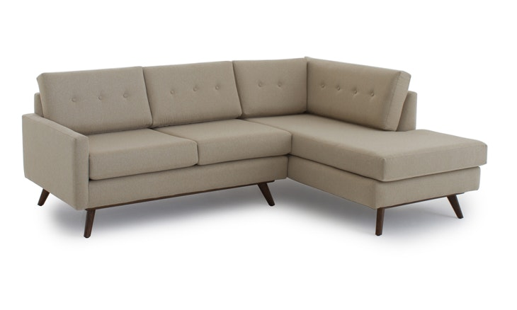 Astonishing Hopson Apartment Sectional With Bumper Ncnpc Chair Design For Home Ncnpcorg