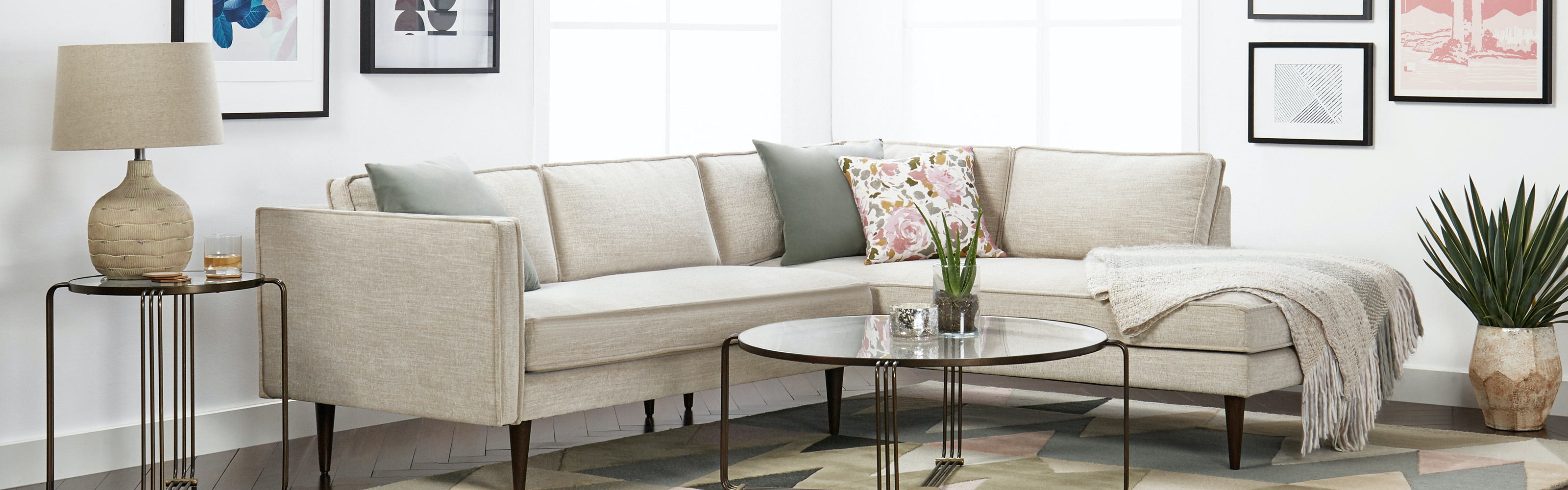 Sectional Sofas Couches In Fabric Or Leather Joybird