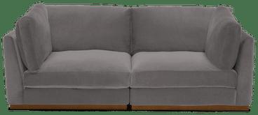 holt corner chair loveseat taylor felt grey