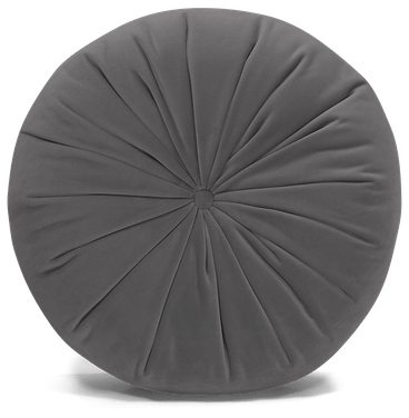 minka pleated round pillow royale ash