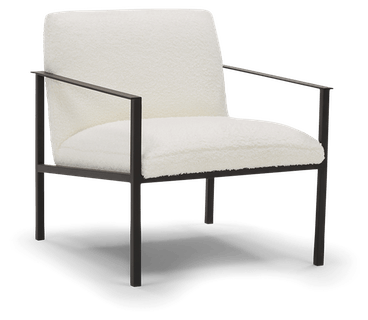 luna accent chair shearling whisper