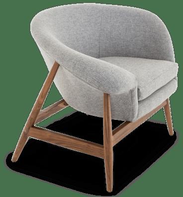 louie chair taylor felt grey