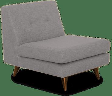 hughes armless chair taylor felt grey