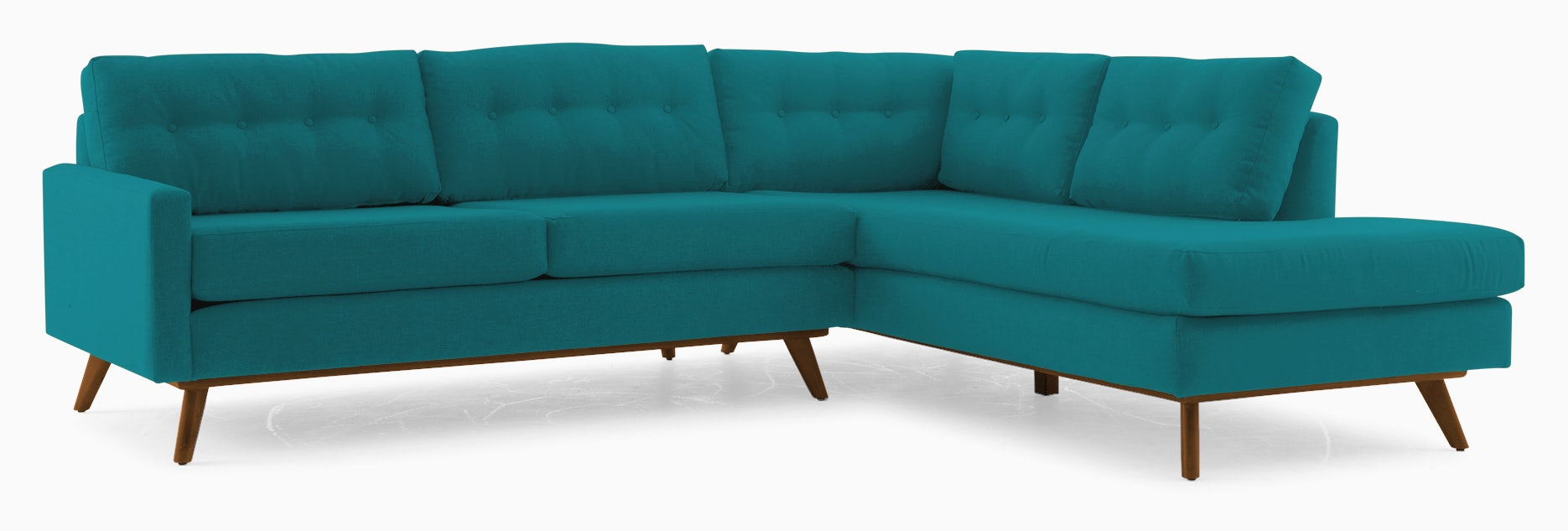 hopson sectional with bumper %282 piece%29 lucky turquoise