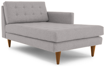 eliot single arm chaise taylor felt grey