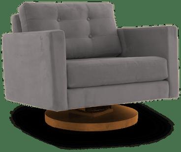eliot swivel chair taylor felt grey