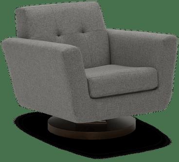 hughes swivel chair taylor felt grey