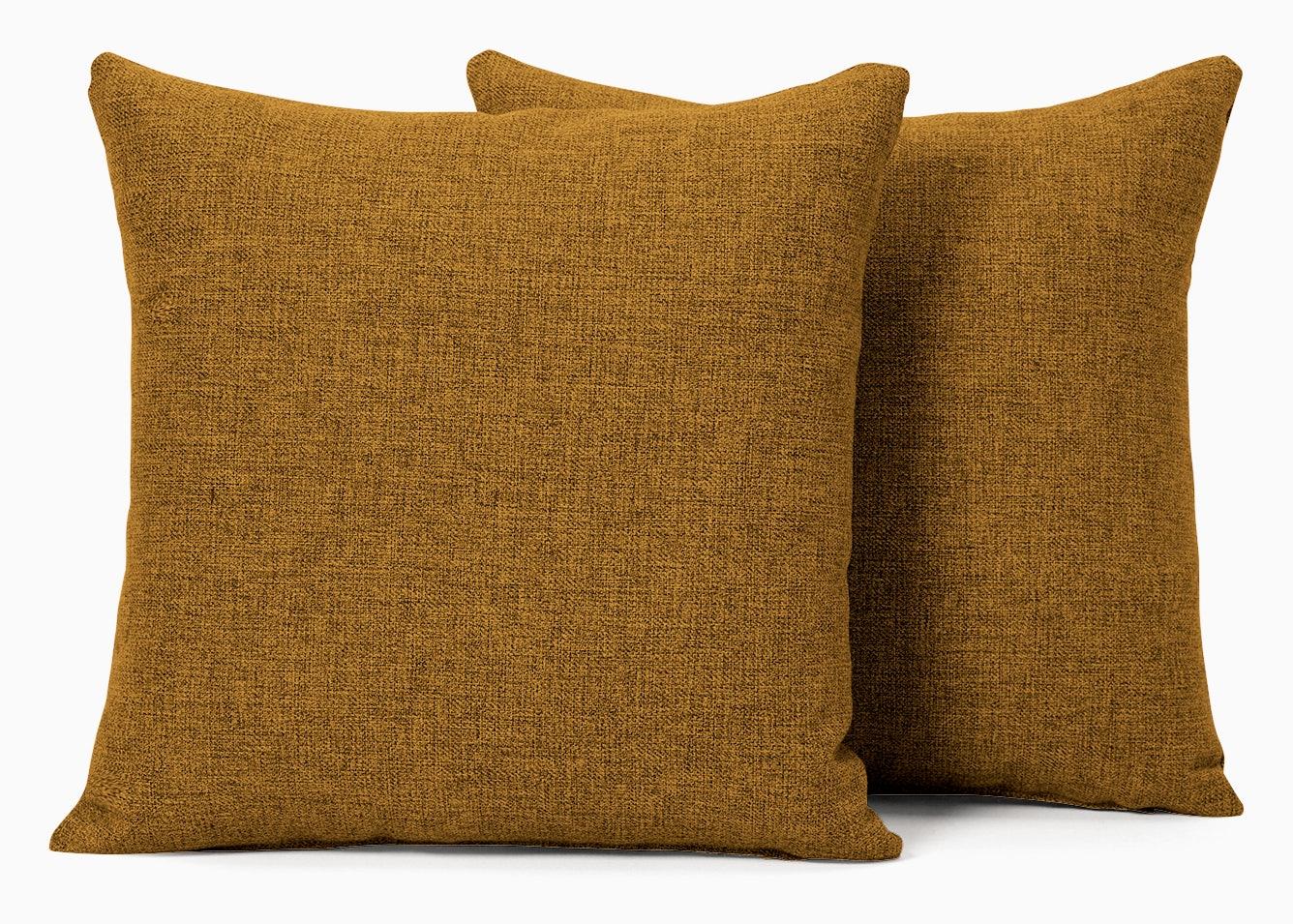 decorative knife edge pillows %28set 2%29 cordova amber