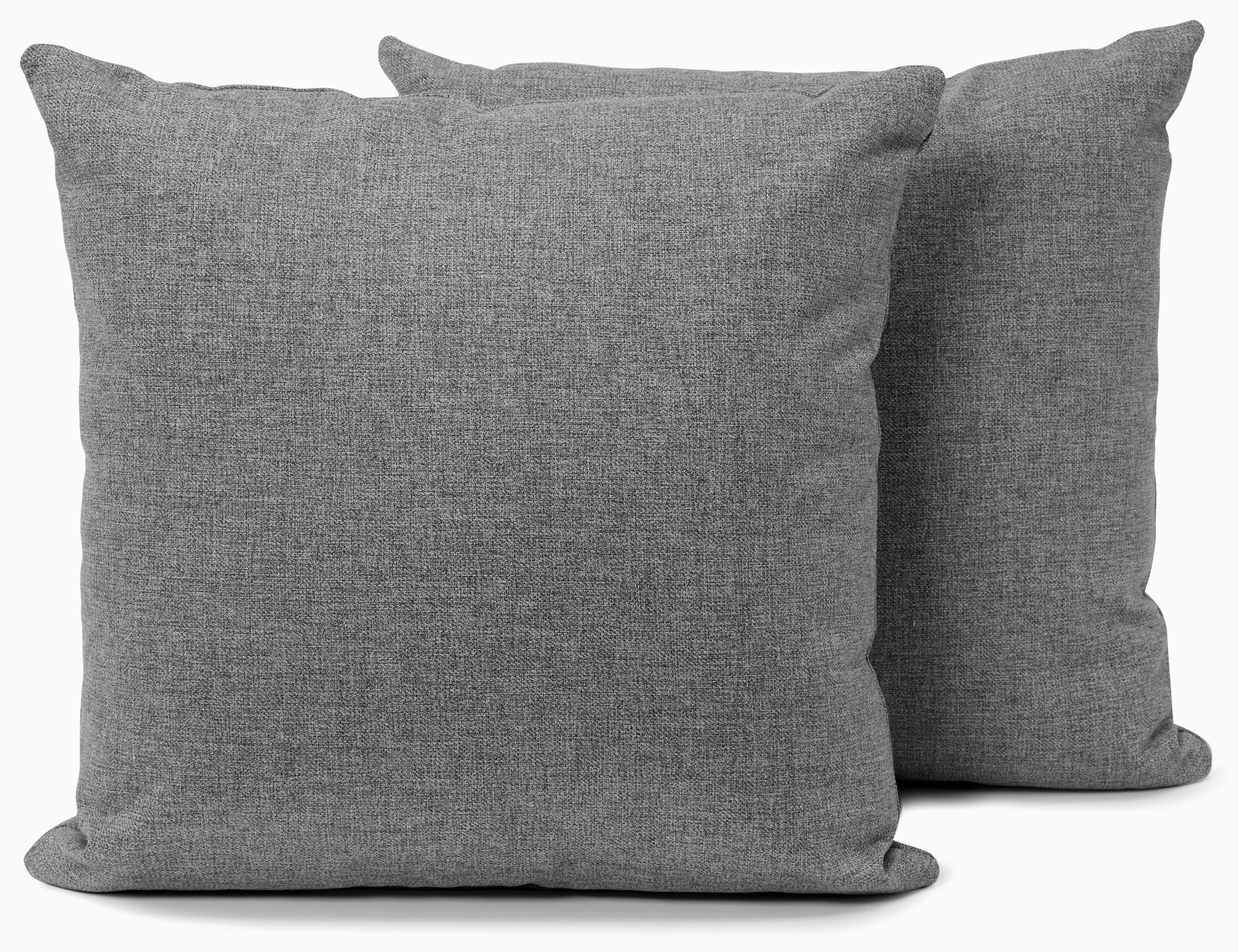 decorative knife edge pillows %28set 2%29 taylor felt grey