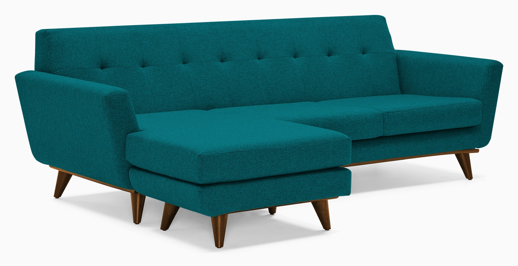 hughes reversible sectional lucky turquoise
