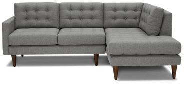 eliot apartment sectional with bumper taylor felt grey
