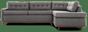 hopson bumper sleeper sectional taylor felt grey