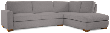 anton sectional with bumper %282 piece%29 taylor felt grey