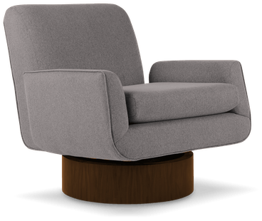 bingham swivel chair taylor felt grey