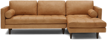 briar leather sectional santiago camel