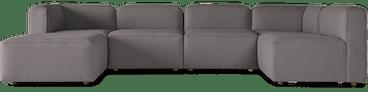 logan modular sofa bumper sectional taylor felt grey