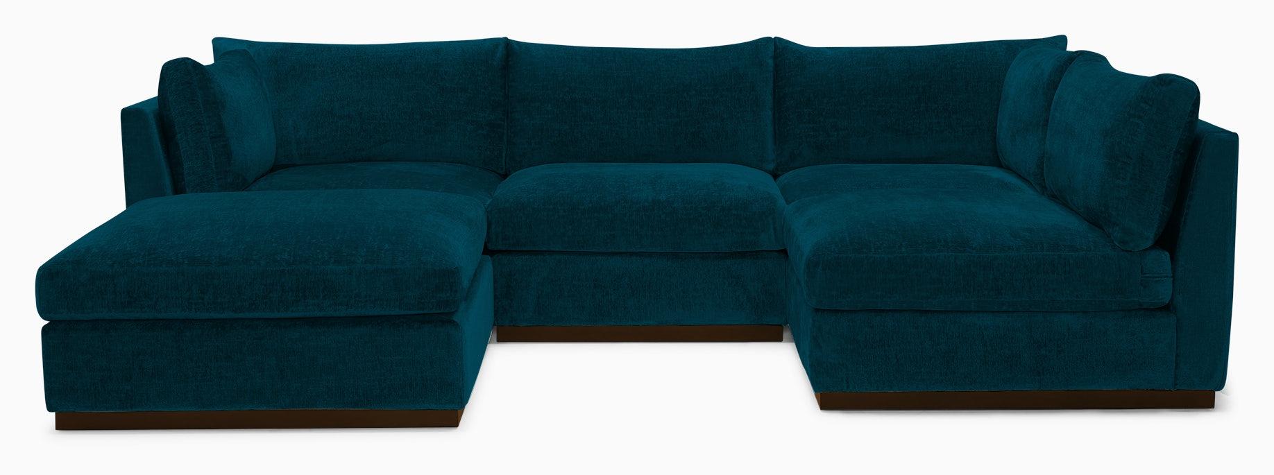 holt armless sofa sectional %285 piece%29 key largo zenith teal
