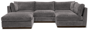 holt armless sofa sectional %285 piece%29 taylor felt grey
