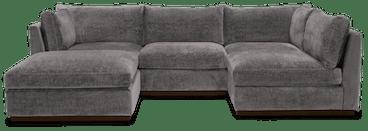 holt armless sofa sectional %285 piece%29 taylor felt grey