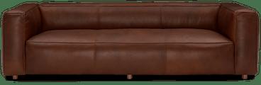 jaxon leather sofa reynoso chocolate