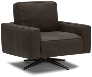 nova leather swivel chair toledo graphite