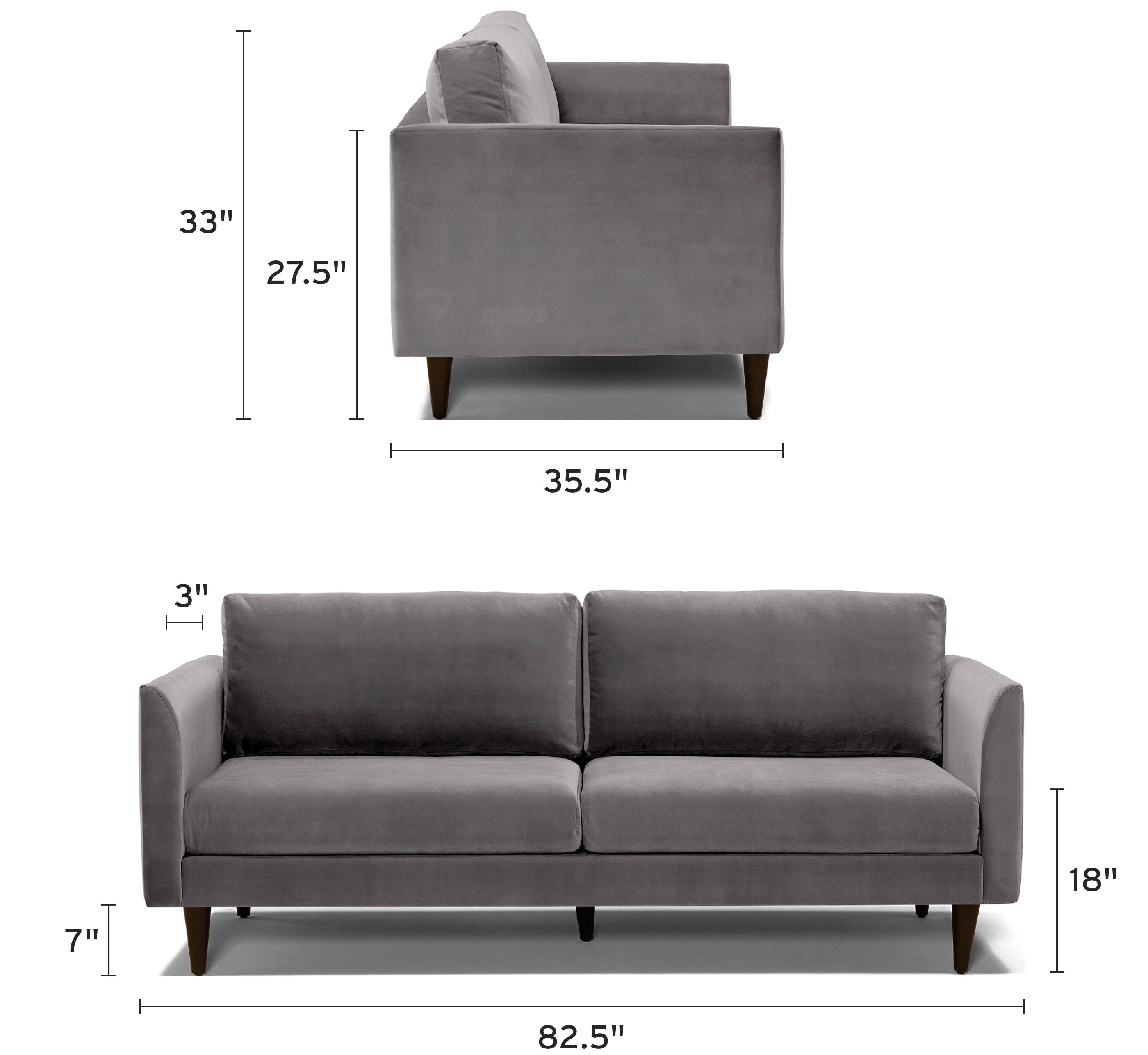 adina sofa mobile dimensional image
