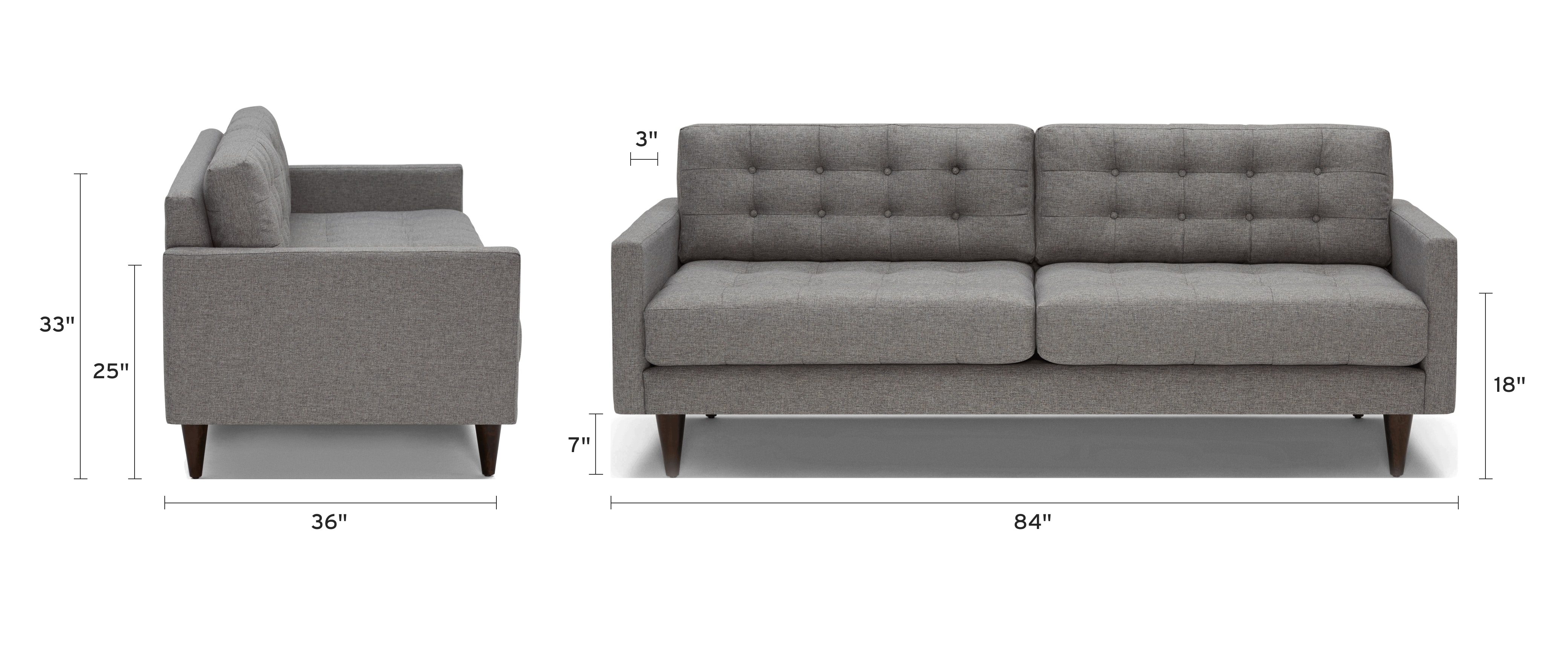eliot sofa dimensional image