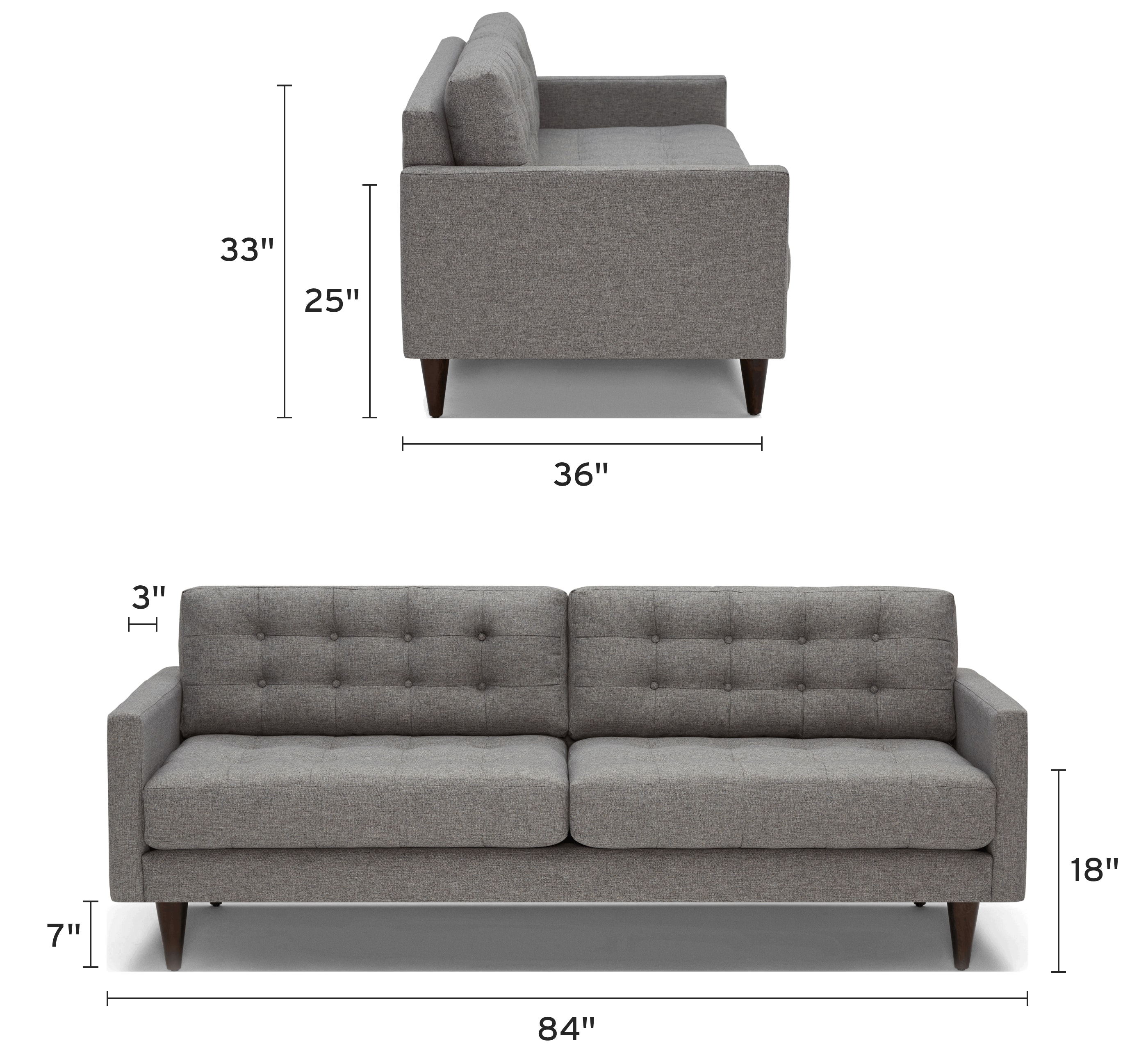 eliot sofa mobile dimensional image