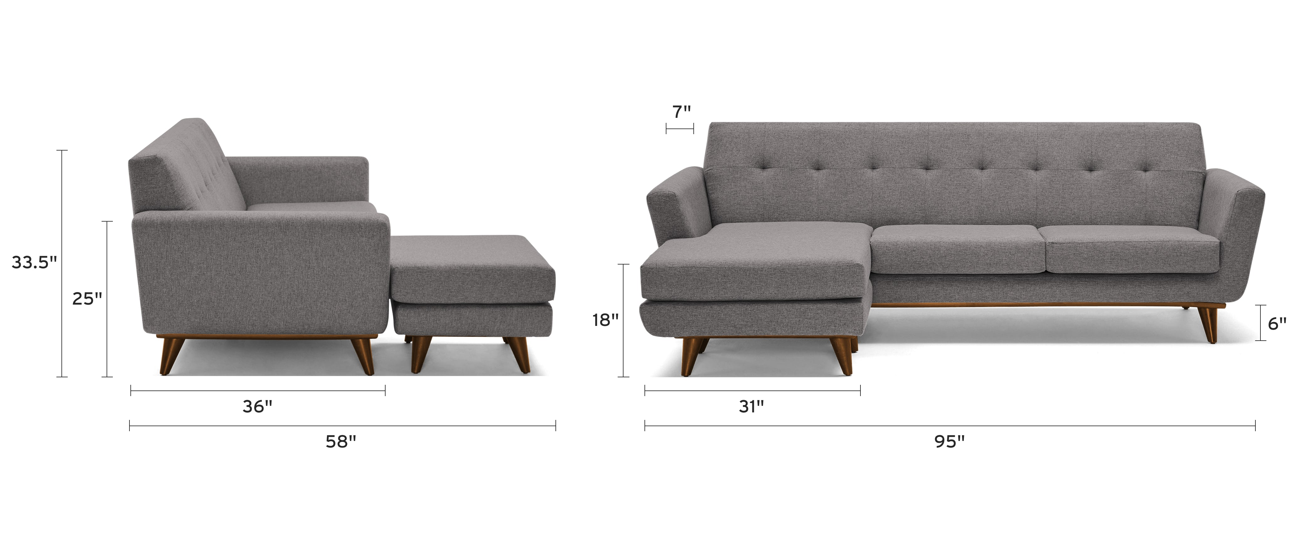 hughes reversible sectional