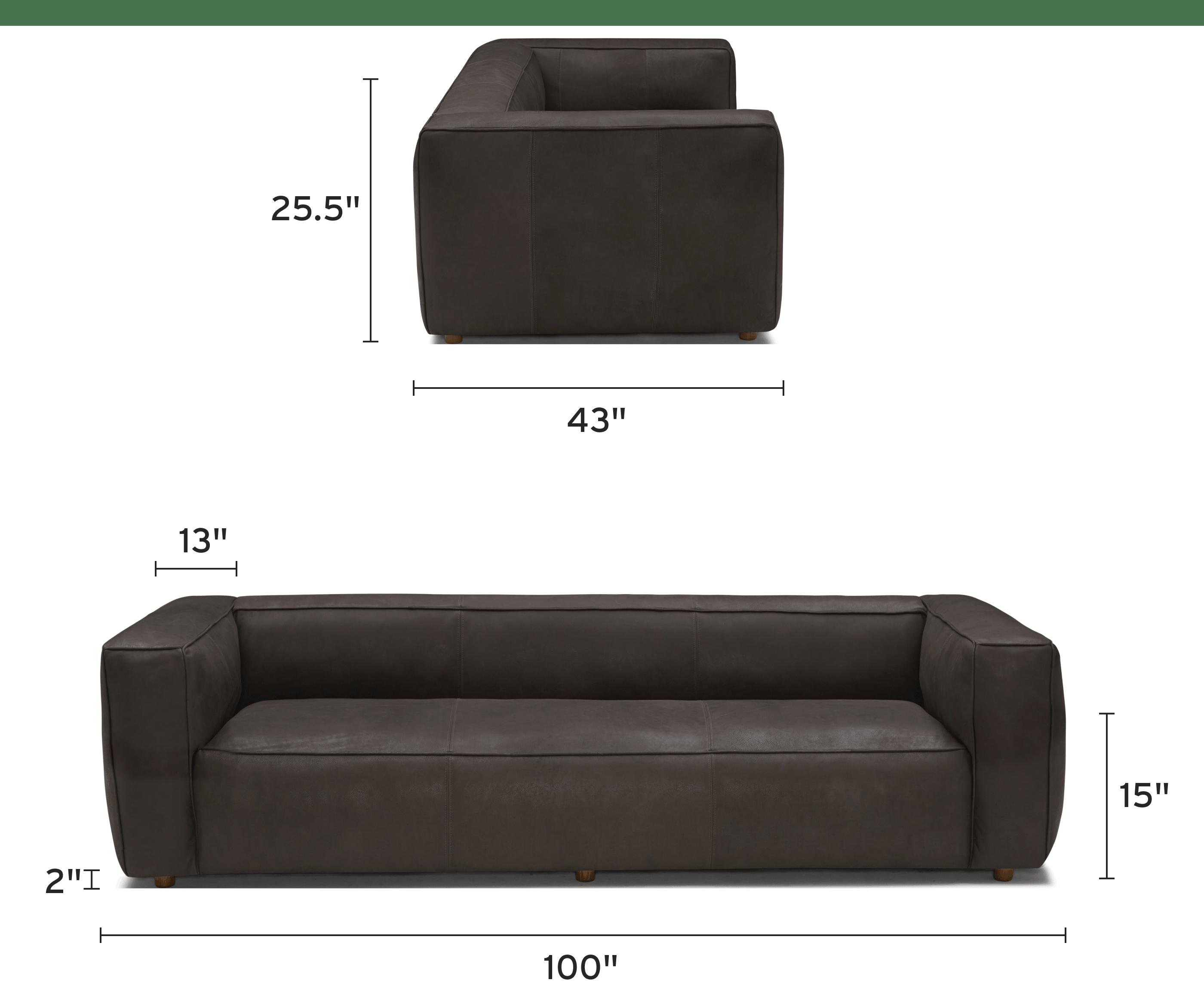 jaxon leather sofa mobile dimensional image