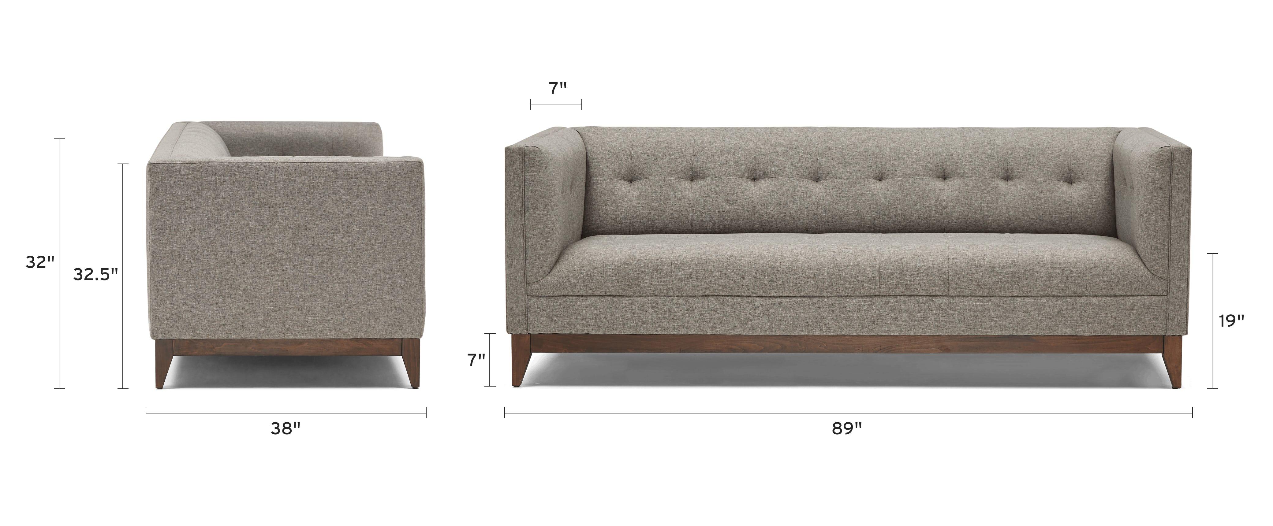 stowe sofa dimensional image