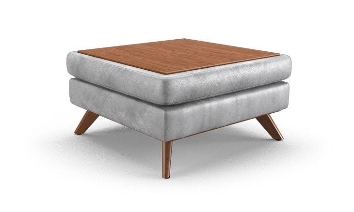 hopson leather table top ottoman   joybird