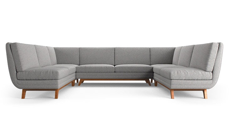 Magnificent Calhoun Armless U Sofa Sectional Download Free Architecture Designs Scobabritishbridgeorg