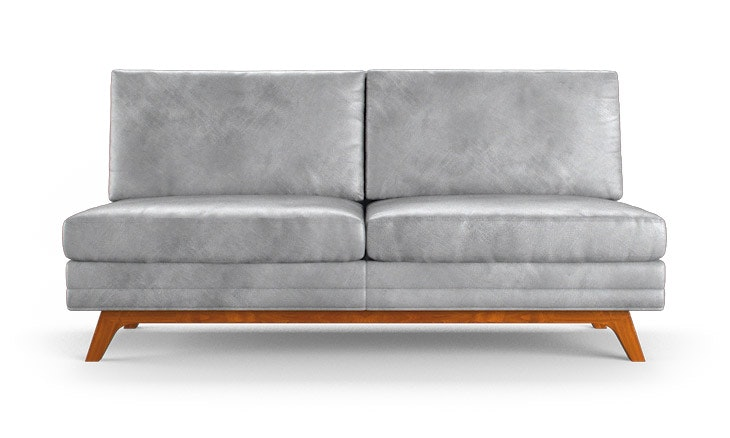 Calhoun Leather Armless Loveseat Joybird
