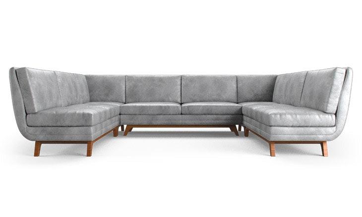 Calhoun Leather Armless U-Sofa Sectional  sc 1 st  Joybird : u sofa sectional - Sectionals, Sofas & Couches