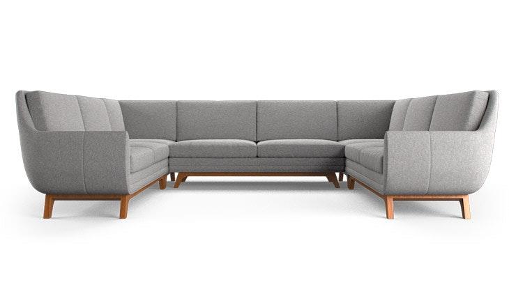 calhoun u sofa sectional joybird. Black Bedroom Furniture Sets. Home Design Ideas