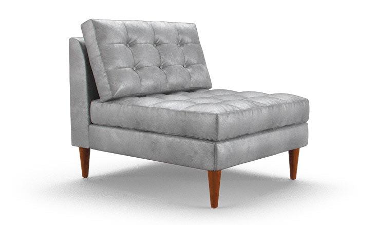 Armless Leather Chairs eliot leather armless chair | joybird