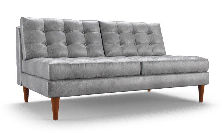 Armless Leather Chairs eliot leather armless loveseat | joybird