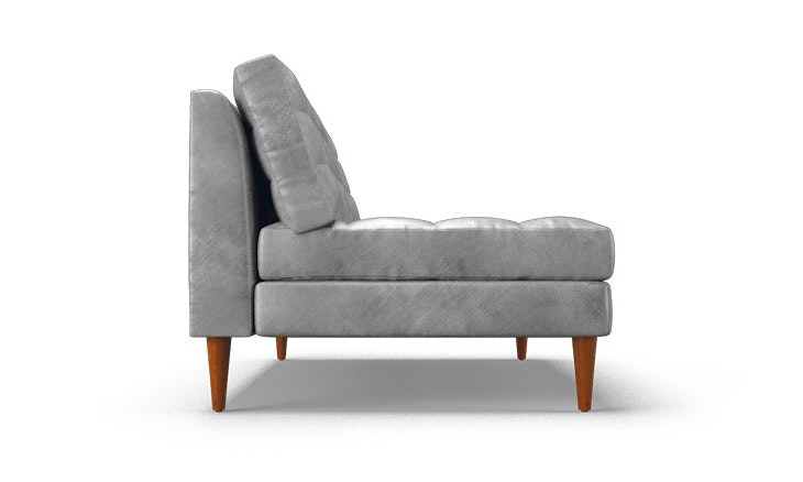 eliot leather armless loveseat main gallery image prevnext product image thumbnail product image thumbnail product image thumbnail
