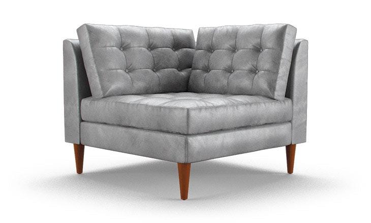 Eliot Leather Corner Chair. Eliot Leather Corner Chair   Joybird