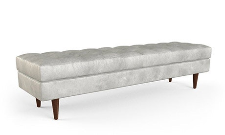 Eliot Leather Bench