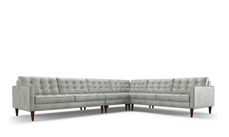 Eliot Leather L-Sectional