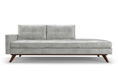 Hopson Leather Chaise