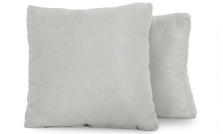 Decorative Leather Boxed Pillows (Set of 2)
