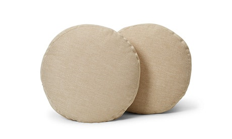 Decorative Round Pillows (Set of 2)