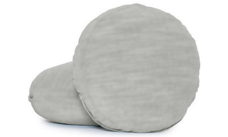 Decorative Leather Round Pillows (Set of 2)