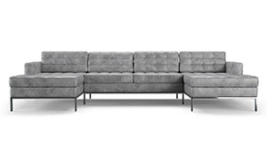 Franklin Leather U-Chaise Sectional
