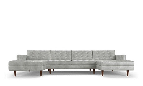 Eliot Leather U-Chaise Sectional
