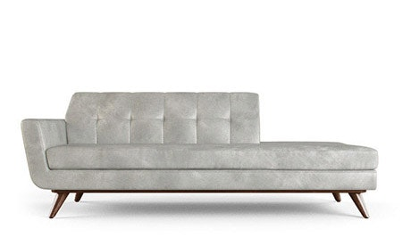 Hughes Leather Chaise