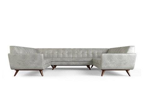Hughes Leather U-Sofa Sectional